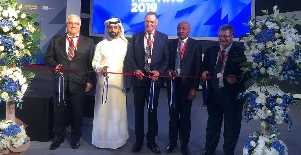 Angola Delegation at WFDB IDMA Presidents Meeting Opening Session in Dubai