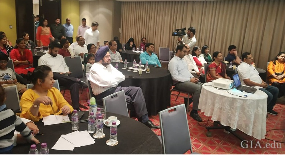 Customers of Malabar Gold and Diamonds attending the seminar on '4Cs of Diamond Quality' in Hyderabad