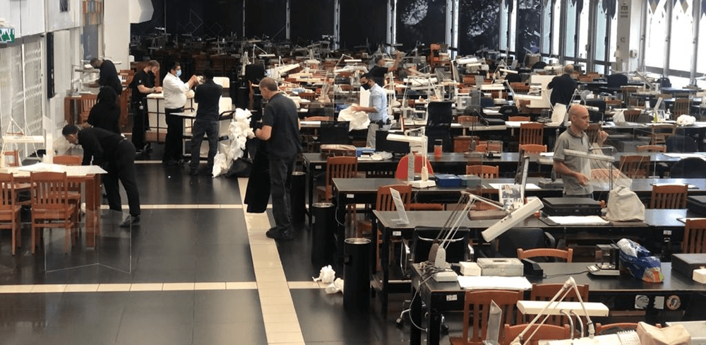 Israel Diamond Exchange Trading Floor back to Normal Activity